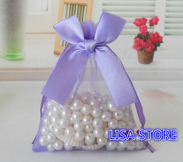 Free Ship Various Sizes Organza Bags Bowknot Butterfly Business Promotional Packaging Bag Sachet Candy Beads Christmas Gift Bags
