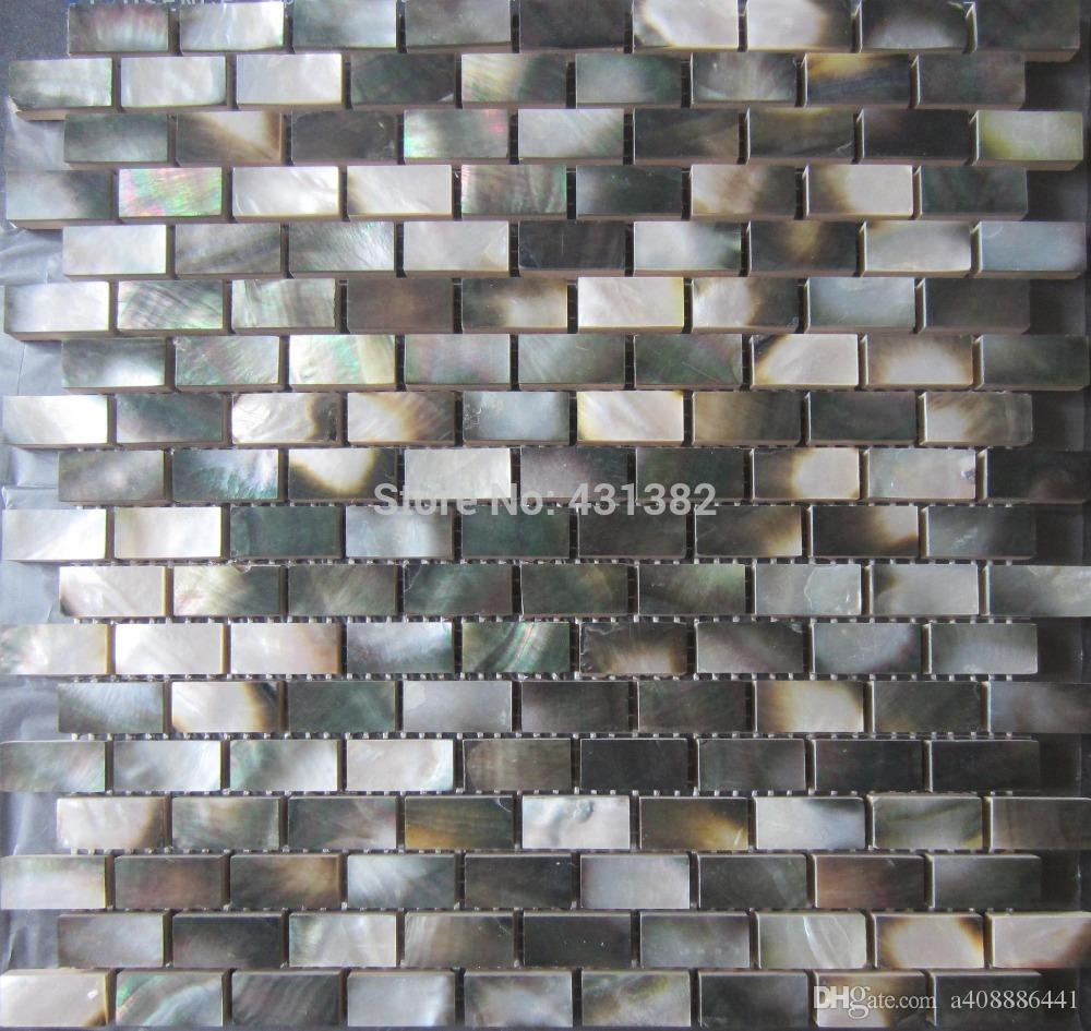 2018 Mother Of Pearl Black Tiles Wholesale Natural Color Shell Wall ...