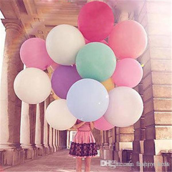 2019 Balloon Helium Balloons Latex Party Pretty Giant Inch Big Birthday Wedding Happy Decoration From