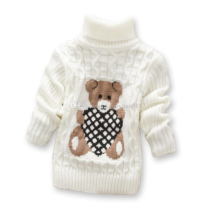 301cf9ebf 2017 Cartoon Baby Girls Sweater Jumper Autumn Winter Kids Knitted ...