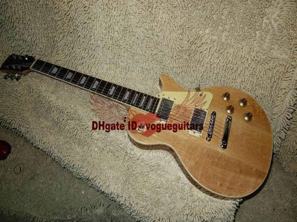 New Arrival Custom guitar Natural color Electric Guitar One Piece Neck Wholesale Guitars HOT