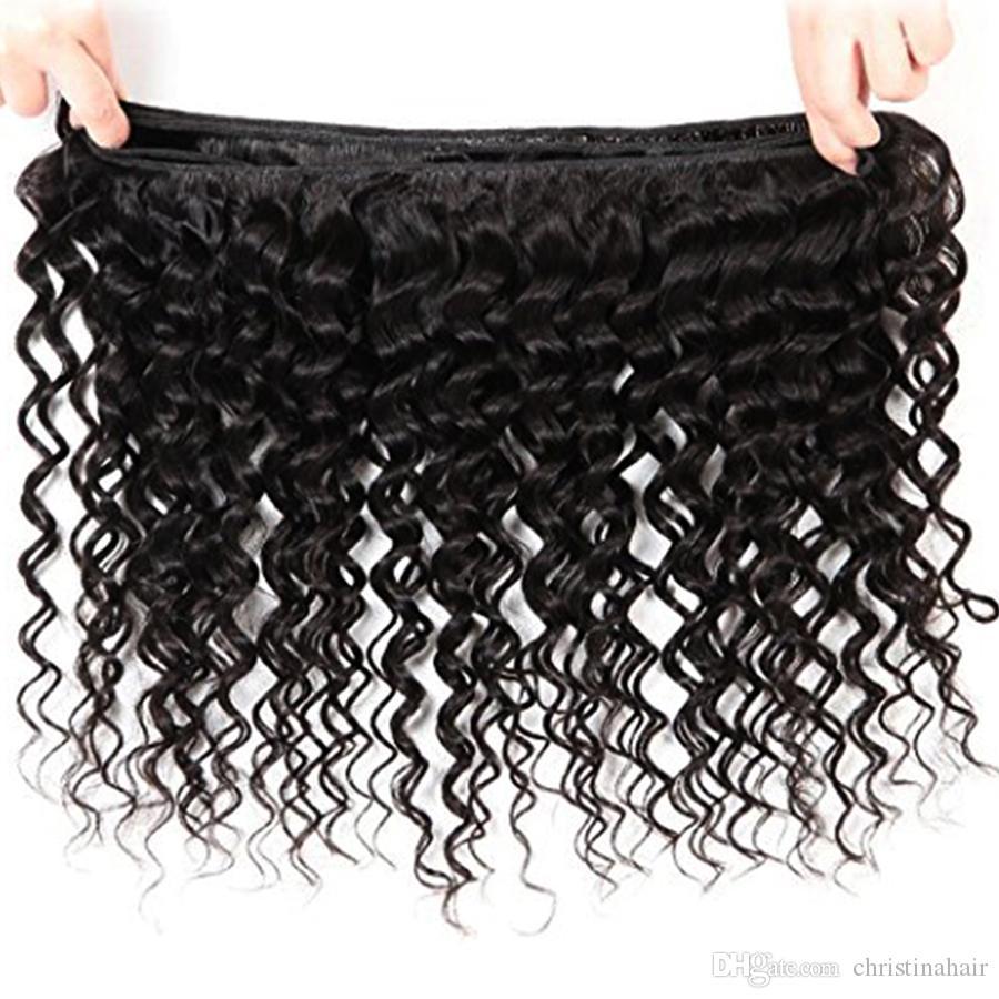 브라질 딥 웨이브 버진 헤어 브라질 헤어 번들 많은 7A 백퍼센트 처리되지 않은 인간의 머리카락 공장 파고 깊은 파도 곱슬 짜기 판매