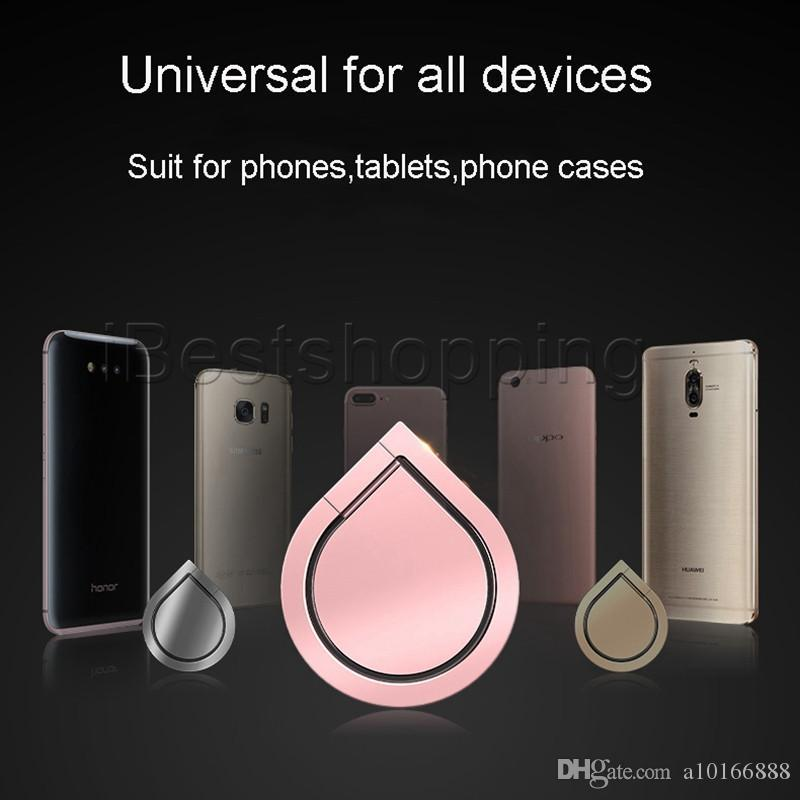New Heart Shape Top Quality Water Drop Finger Ring Zinc alloy the best material quality Suitable for Holder Universal Mobile For All Handset