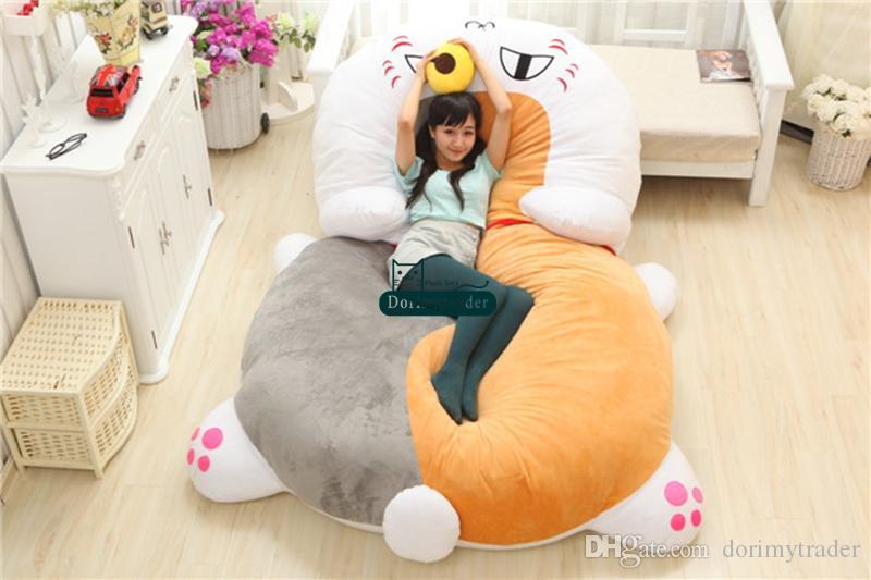 Dorimytrader 210 cm X 150 cm Japan Anime Plüsch Weiche Lustige Nyanko-sensei Katze Bett Tatami Sofa Teppich Matratze Schönes Geschenk Freies Verschiffen DY60369