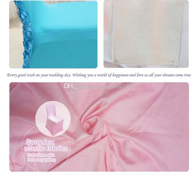 Hot Top Vente Lien - 13 couleurs lycra Housse de chaise avec Rosette satin à l'arrière pour mariage utilisation Livraison gratuite