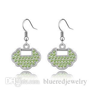 c2255b4afd05 Compre Pendientes De Cristal Austríaco Bloqueo Ilusionado A  14.5 Del  Blueredjewelry
