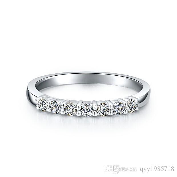 شحن مجاني بريليانت ستار خاتم الزفاف مجموعة 925 فضة مطلية بالذهب خواتم الزفاف للنساء مجوهرات الماس الاصطناعية