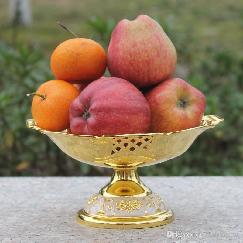 2016 neue Ankunft elegante hohle goldene getrocknete Obstteller Snack-Fach / Luxuxhauses Obstschale plattiert