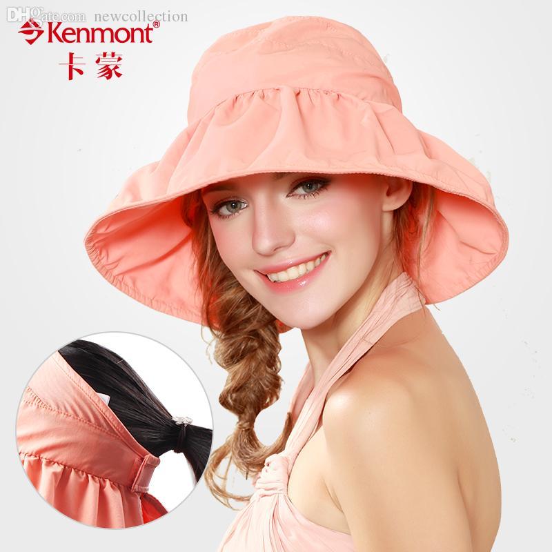 c67e299559821 Wholesale-Women s Visor Sunbonnet Anti-uv Crownless Cap Folding ...