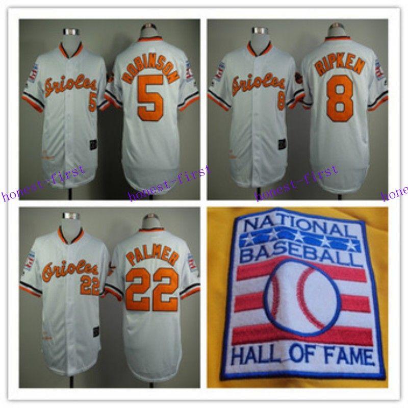 b03f4310a3a ... where to buy men baltimore orioles 5 brooks robinson8 cal ripken22 jim  palmer 1970 throwback jersey