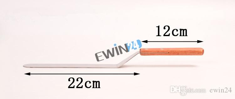 8.5 inch Cake Icing Spatula With Wood Handle Cream Butter Smooth Flat Scraper Blade Angled Decorating Tool