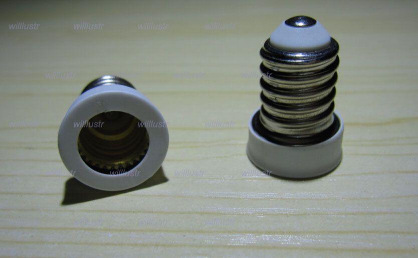 / E14 إلى E12 مصباح قاعدة محول محول لمبة محول بقيادة مصباح الهالوجين CFL مصباح