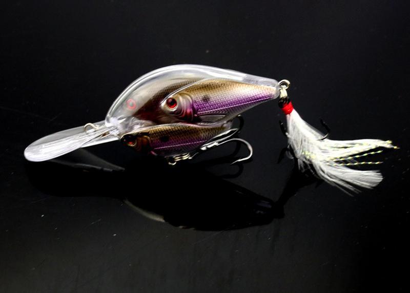 Threadfin Shad Crankbait Fly Balıkçılık Sert Lures 9.7 cm 18g 3D Gözler Bas Balıkçılık için Live Hedef Yem
