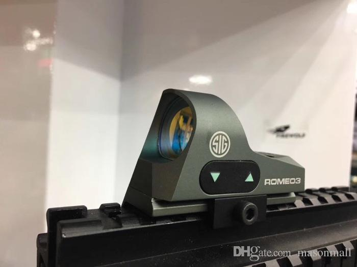 2017 ROMEO3 3MOA Mira Reflexo Red Dot Sight 1x25 Retículo Red Dot Scope Com QD Mount Caça Scopes Para 20mm Rail Base
