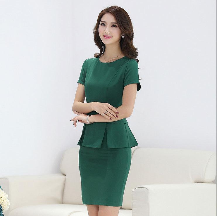 2018 summer office uniform designs for women mini skirt suits 2015