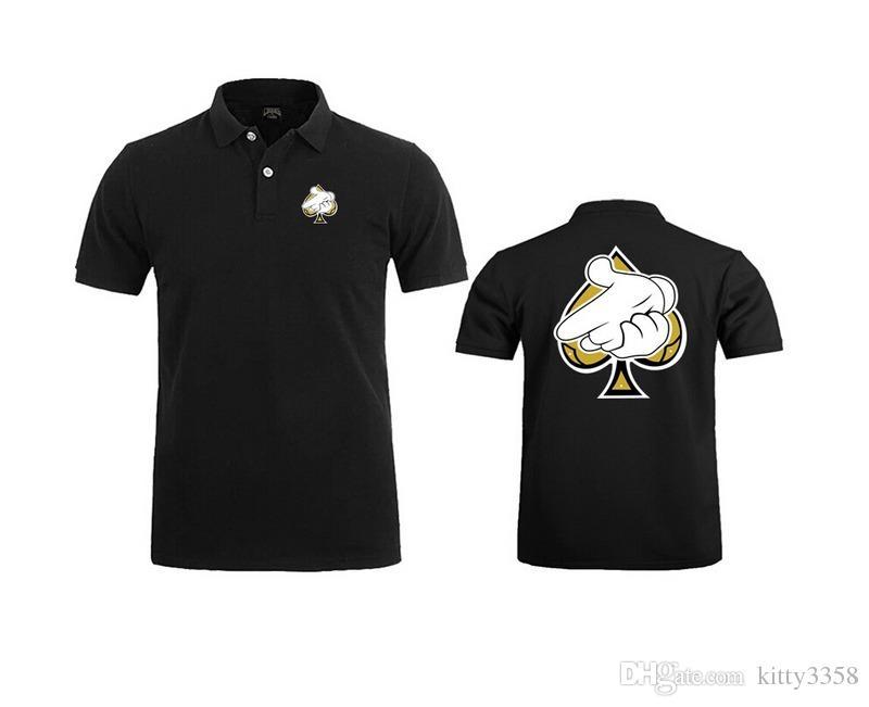Новое прибытие мошенники и замки кожаные рукава повседневная мужчины Майка хип-хоп рубашка поло Мужчины футболка Марка мода, высокое качество, размер S-3XL