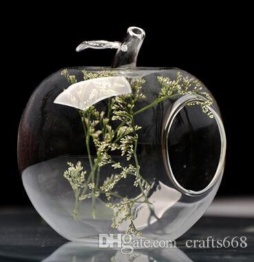 المزهريات الزجاجية شكل تفاحة فاكهة الكمثرى شكل زهرة زهرية الزفاف الديكور