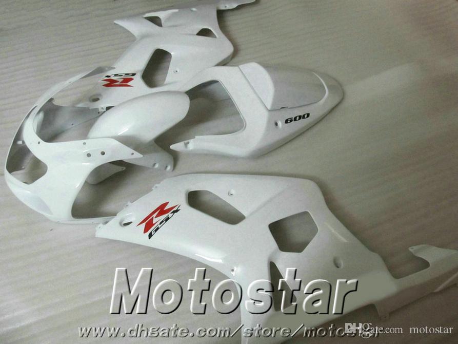 ABS plastic fairing kit for SUZUKI GSX-R600 GSX-R750 2001-2003 K1 GSXR 600 750 all white new fairings set 01-03 EF8