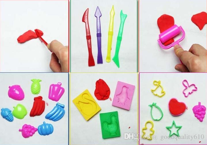 1 مجموعة 23 قطع أداة نموذج ل حبيبات الطين البلاستيسين البوليمر الاطفال حزب diy