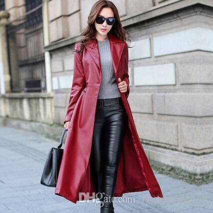 0024e098468 2018 Spring Autumn Women Leather Jacket Fashion High-end PU Leather ...