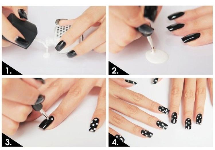 Nail Art Tool Steel Dotting Marbleizing Pen Nail Art Paint Pen Decoration Nail Art Manicure Tool