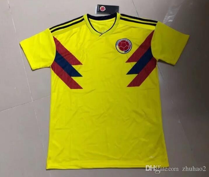2018 2018 Colombia World Cup Soccer Jerseys Uniforms Yellow White Blue 10  JAMES 9 FALCAO 11 CUADRADO 8 AGUILAR 13 GUARIN SANCHEZ Football Shirt From  Zhuhao2 ... 3de7bed53