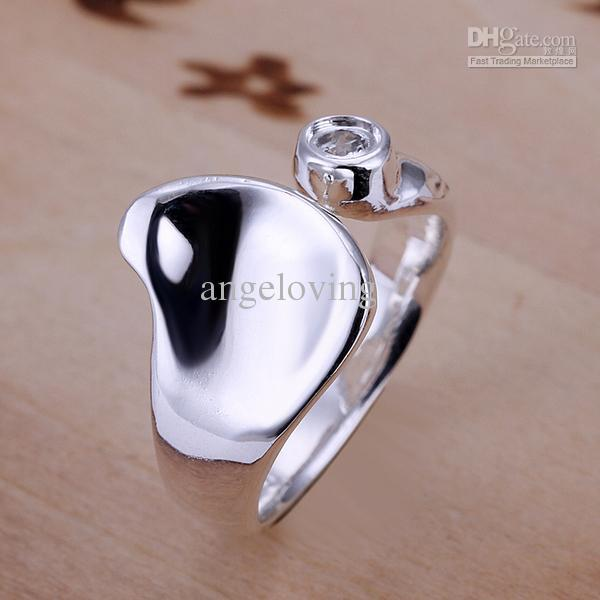 Fashion Rings Jewelry 925 Silver Multi Styles Mixed Size Popular Rings Christmas Gift