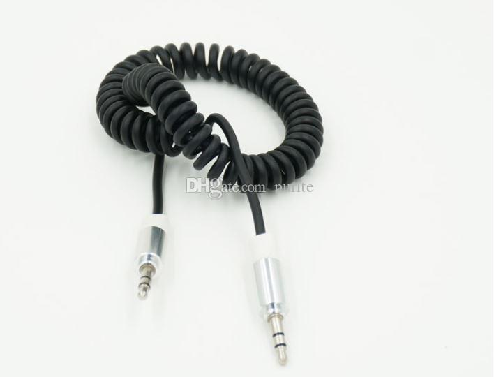 6FT 2M 3.5MM AUX Audio Cable Car Stereo Extension Retractable Spring Cable For iphone 6s samsung