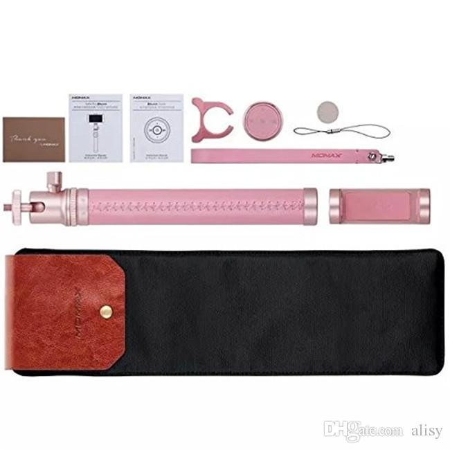 Télécommande universelle Momax Selfie Pro Bluetooth pliable Selfie Stick avec Cam longueur de l'application 90 cm Hot Fashion