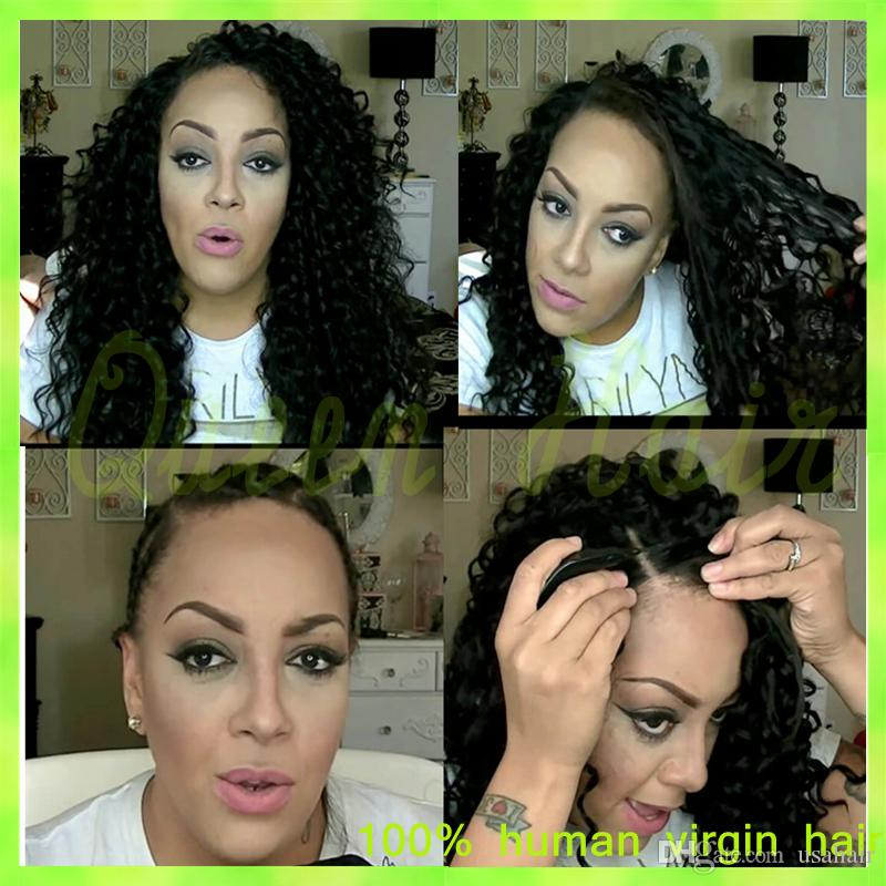 Natural Hairline Kinky Curly Lace Front Wigs For African Americans Virgin Brazilian Afro Full Lace Human Hair Wig With Baby Hair