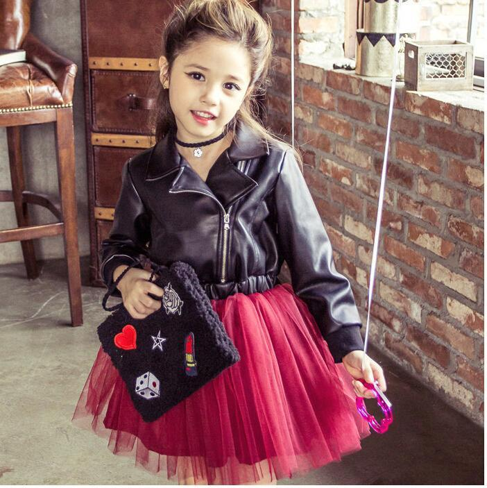 Cute girl leather jackets