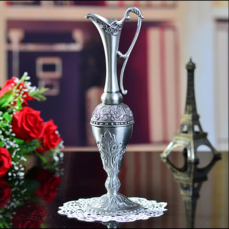 New Arrival Selling Hot Pewter Plated Metal Flower Vase For Home