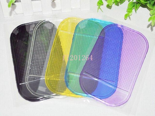 Frete Grátis Poderoso Magic Pegajoso Pad Anti Slip Non Slip Tap para telefone PDA MP3 MP4 Acessórios para Car 6 Cores, 5 pçs / lote