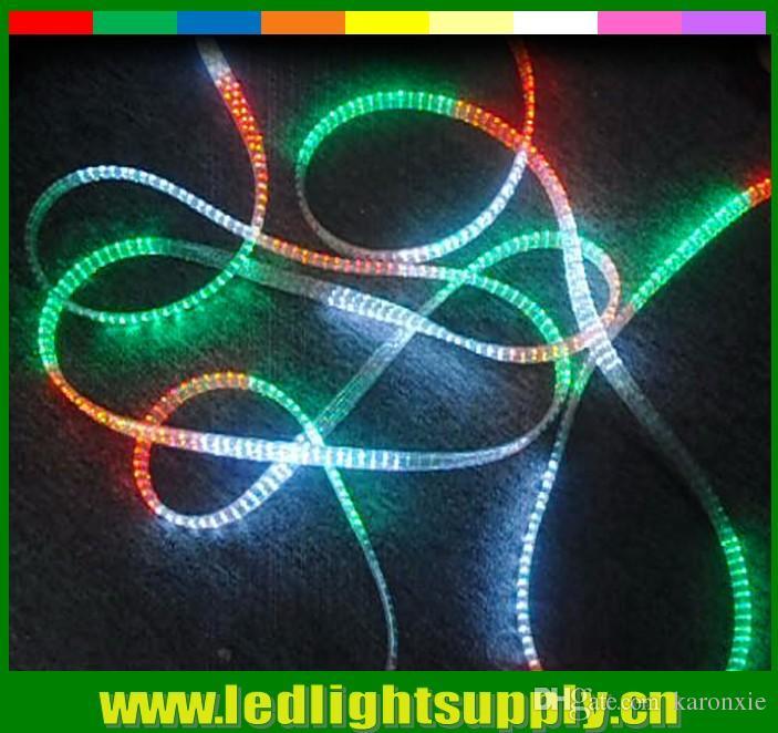50 m biriktirme 110 V / 220 v kovalayan 5 tel led noel halat ışık RGBY RGBW gökkuşağı şerit şerit duralight led halat ışık 144led / M