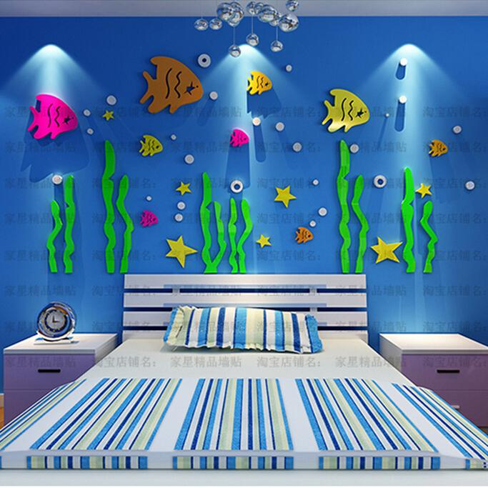 Good Cartoon 3d Wall Stickers For Kids Rooms,Nautical Decor Fish Wall Sticker  Home Nursery Wall Decorations,Lovely Baby Bedroom Decor Adhesive Wall Decals  ... Part 7