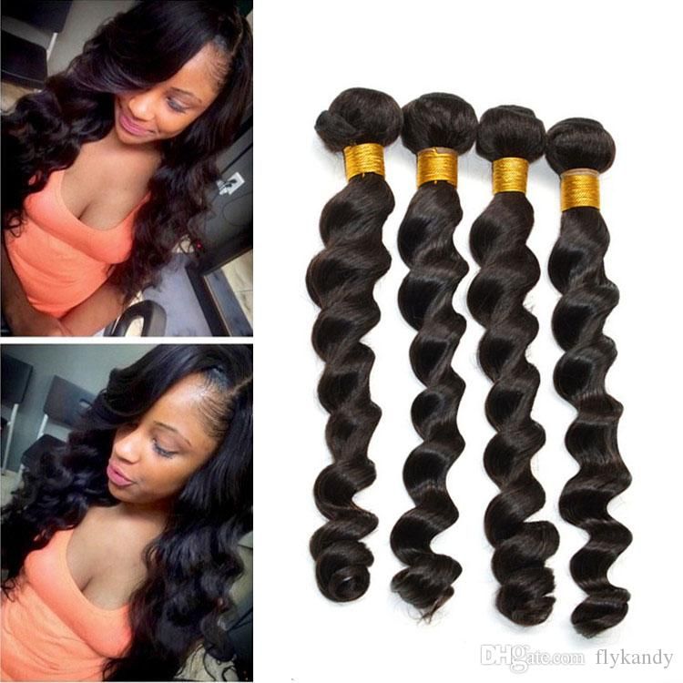 Loose Wave 7a Brazilian Virgin Remy 100 Human Weft Hair Extensions