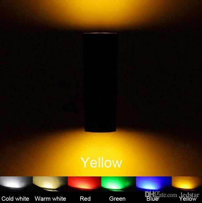 LED hacia arriba Aplique de pared Lámpara exterior Lámpara exterior Patio externo 6W 12W 18W 24W Impermeable IP65 Focos LED LED 85-265V