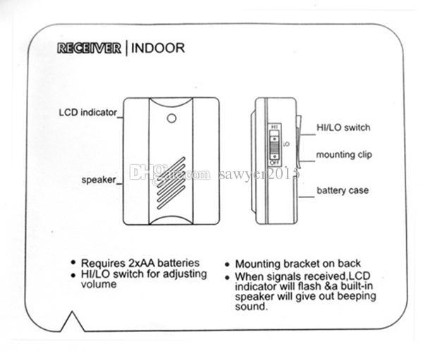 Newest Electro Guard Watch Motion Sensor Alarm Door Bell Wireless Infrared Security Alert System doorbell Chime Indoor & Outdoor Use