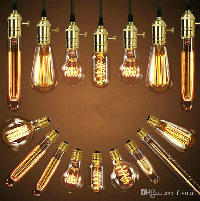 vintage Antique wholeset with E27 220V 40W Edison bulb+lamp holder+wire+ceiling base bar shop pendant lighting