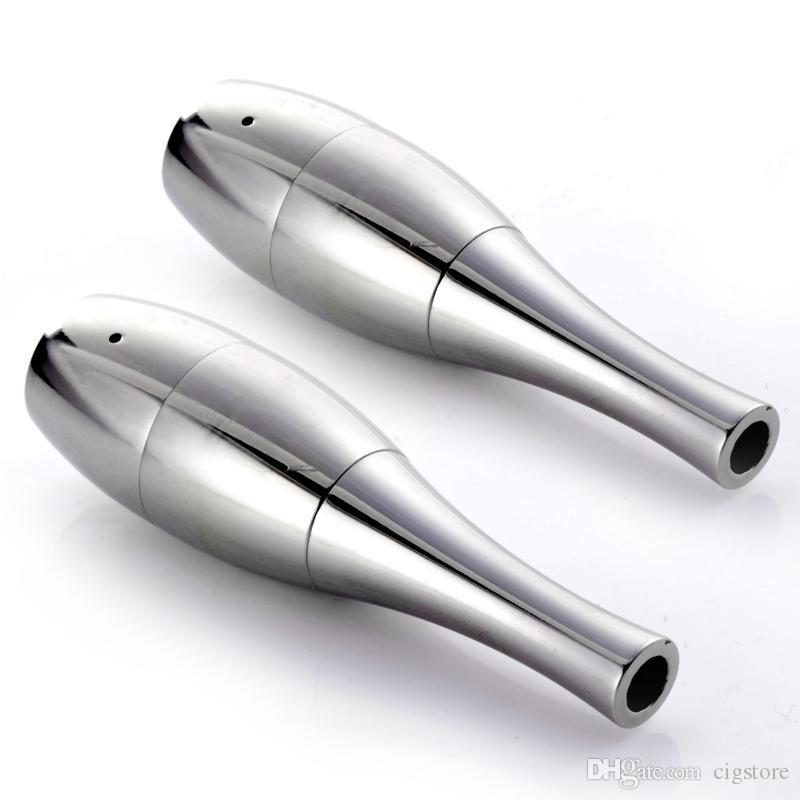 Vase cannon Bowling Atomizer Dry Herb Vaporizer wax Dual Coil Rebuildable Stainless Steel Vase Shape Metal Vapor E Cig