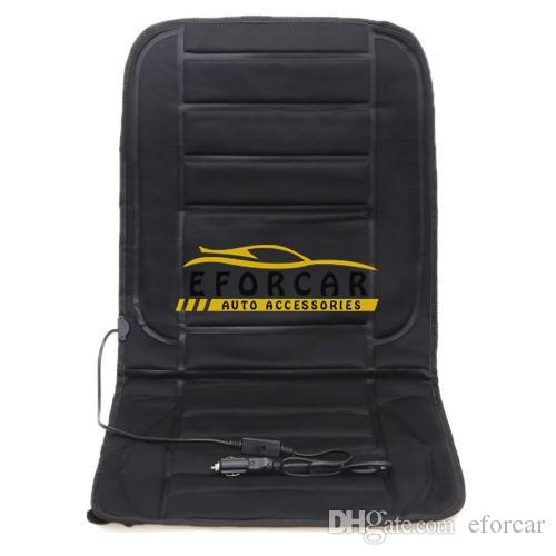 Nuevo 12 V Coche Cojín del asiento con calefacción cubierta esteras cojín Asientos con calefacción coche Negro Winter Warmer Cojín coche accesorios