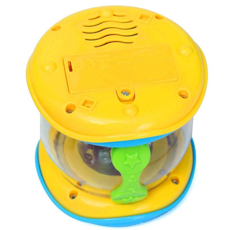 LED Music Early Childhood Educational Learning Developmental Baby Rattles Funny Children Infant Toys Mini Magic Hand Drum Beat