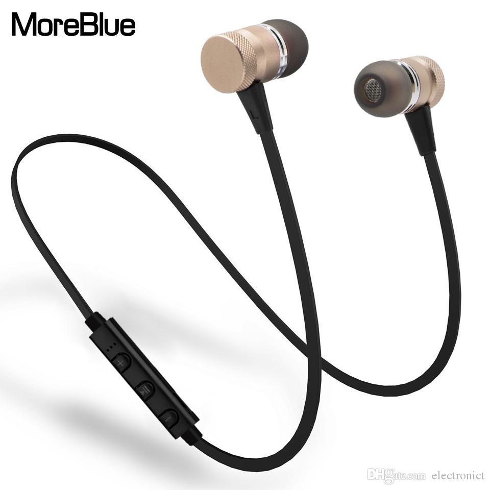 70f8871505ba Wireless Headphones Wireless Bluetooth Earphones Metal Magnetic Sport  Running Headphones Stereo Super Bass Headsets Earbuds With Mic