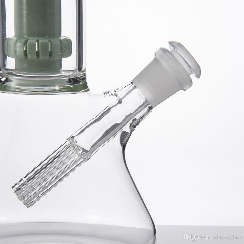 Glas Downstem Mit 6 Bewaffnetem Stecker 14mm Buchse Auf 18mm Männlichen 14F-18M Glasrohr Matt Joint Dropdown Glaswasserleitung