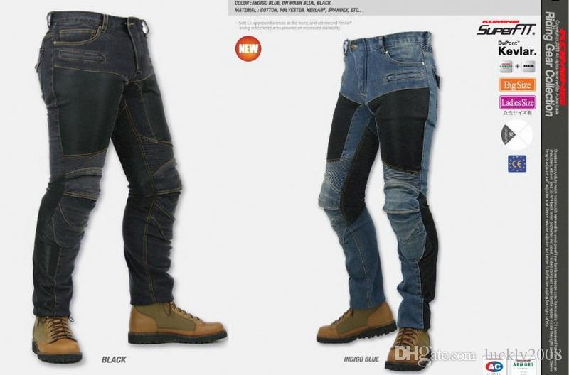 0c9b4af3073 2019 JAPAN KOMINE PK719 Locomotive Jeans Summer Half Mesh Leisure  Motorcycle Jeans With Knee Protector Rider Pants CE Gear Size S M L XL XXL  XXXL From ...