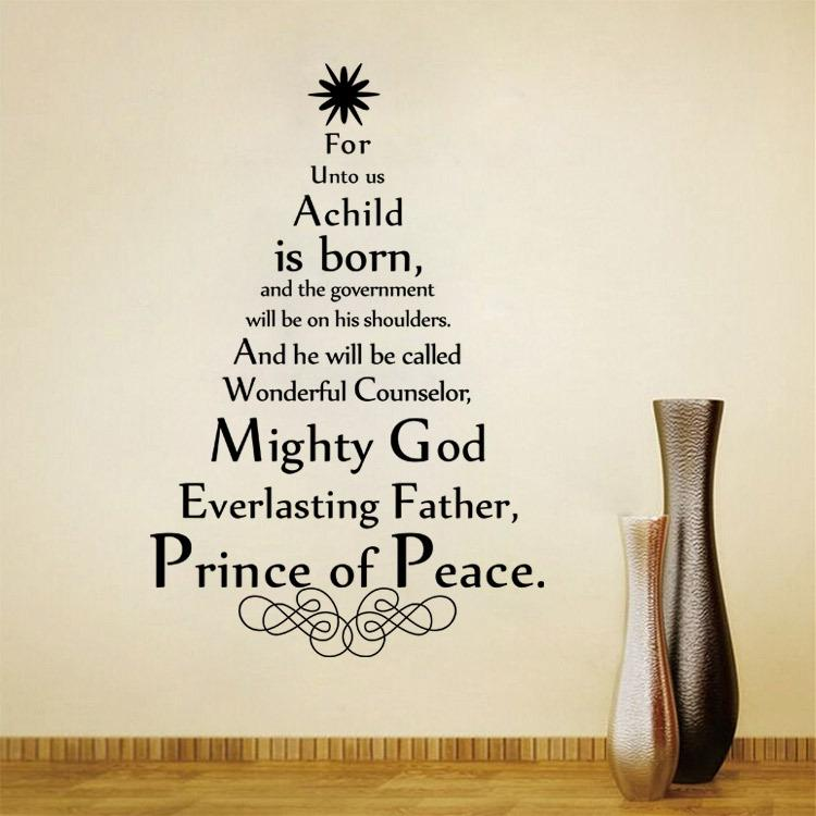 Mighty God Everlasting Father Quote Wall Art Decals Vinyl Wall