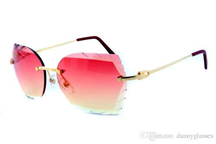 Прямые солнечные очки высокого качества, 8300817 ультра-легкий металл зеркало ноги очки, стильные золотые Рельефные линзы, очки размер: 56-18-140m