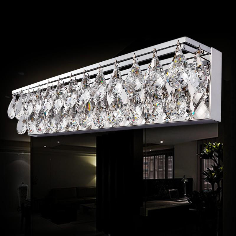 Sconce Light Wall Light Crystal K9 LED Modern Bathroom Mirror Front Light Fixture Bedroom L& Bathroom Lighting Fixtures Online with $309.48/Piece on ... : bathroom lighting crystal - azcodes.com