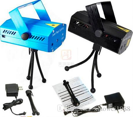 Mini Laser Bühnenbeleuchtung -Kinderspeicher Blau / Schwarz 150mW Mini GreenRed Laser DJ Party Stage Light Schwarz Disco Dance Floor Lights