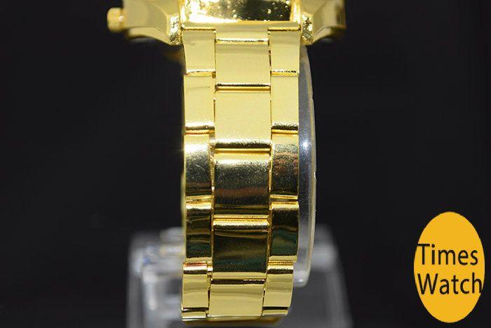 Alta Qualidade Moda Relógio de Ouro New Arrival Trevo Quartz Sports Relojes Senhoras Mens Vestido de Ouro Dos Desenhos Animados Relógios de Pulso